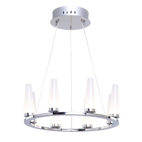 "Briar 15.5""w Chrome LED Pendant Chandelier Ceiling Artcraft"