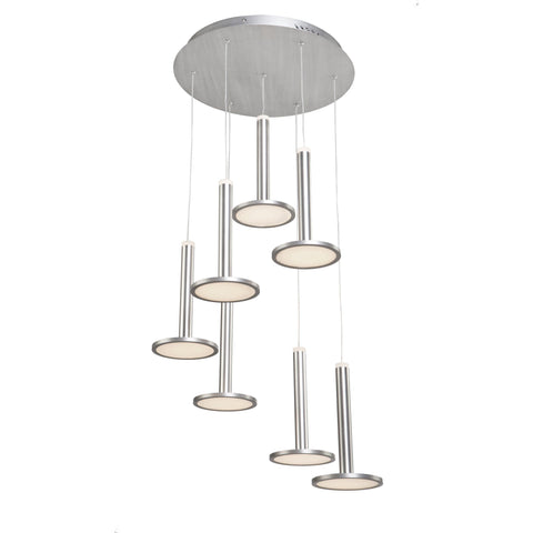 "Aurora 17.75""w Brushed Aluminum Chandelier"