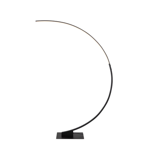 "Cortina 11.75""w Arc Floor Lamp - Matte Black"