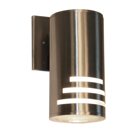 "Nuevo 8.75""h Stainless Steel Outdoor Wall Light"
