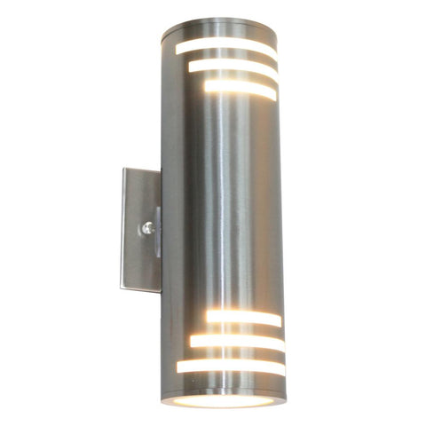 "Nuevo 13""h Stainless Steel Outdoor Wall Light"