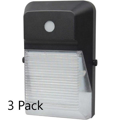 LED Wall Pack (Mini) 20W 2400lm with Photocell - 3pk Architectural Dazzling Spaces 3pk