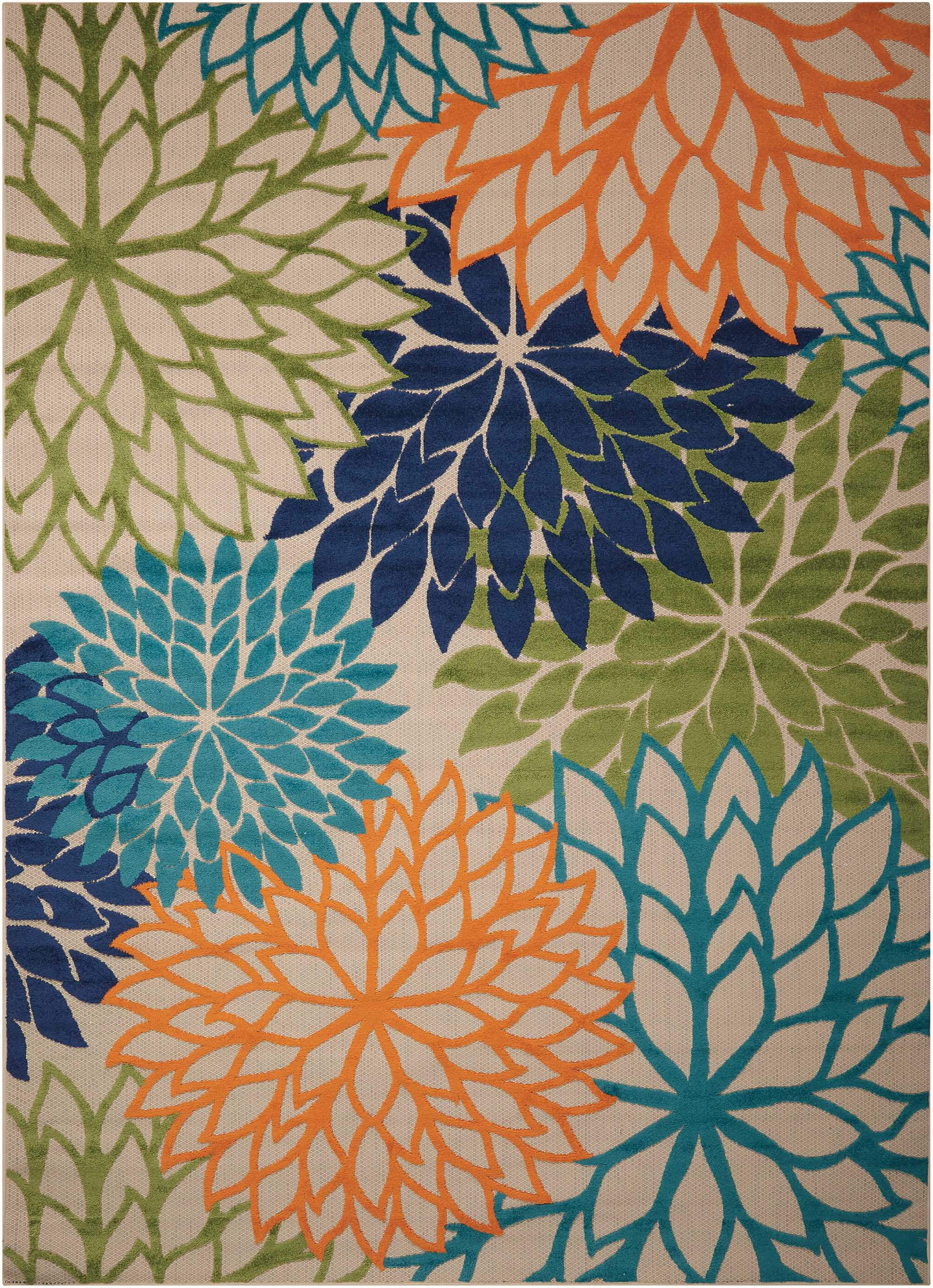 "Aloha Multicolor Indoor/Outdoor Rug - 5 Sizes Available Rugs Nourison 5'3"" x 7'5"" Area"