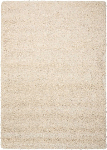 "Amore Cream Shag Area Rug 3'11"" x 5'11"""
