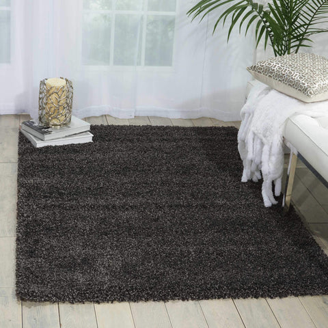 "Amore Dark Grey Shag Area Rug 3'11"" x 5'11"""