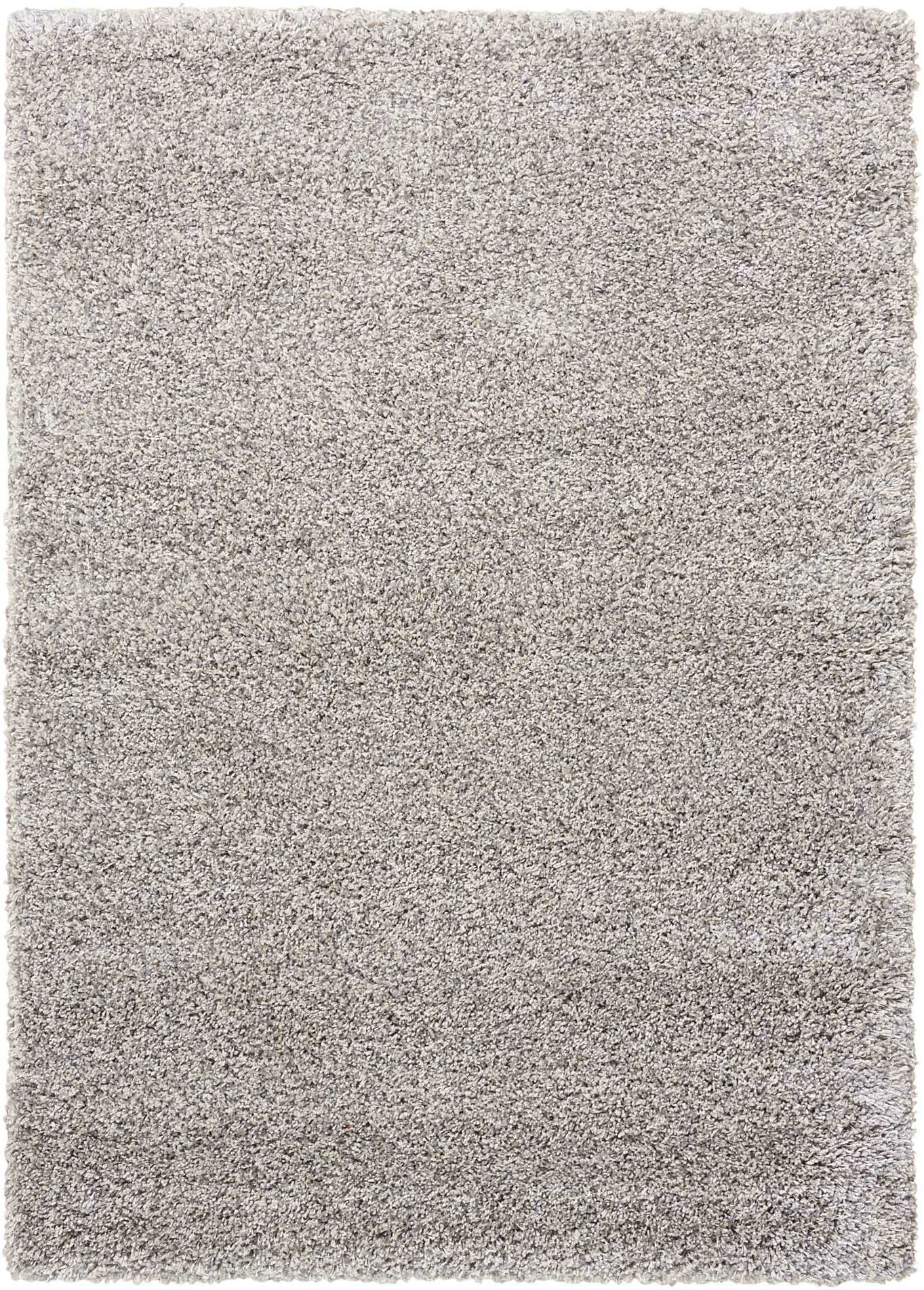 "Amore Light Grey Shag Area Rug 3'11"" x 5'11"" Rugs Nourison 3'11"" x 5'11"" Accent"