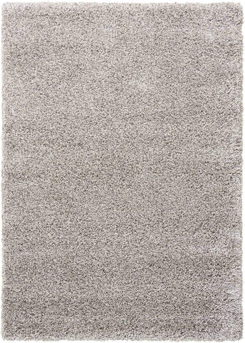 "Amore Light Grey Shag Area Rug 3'11"" x 5'11"""