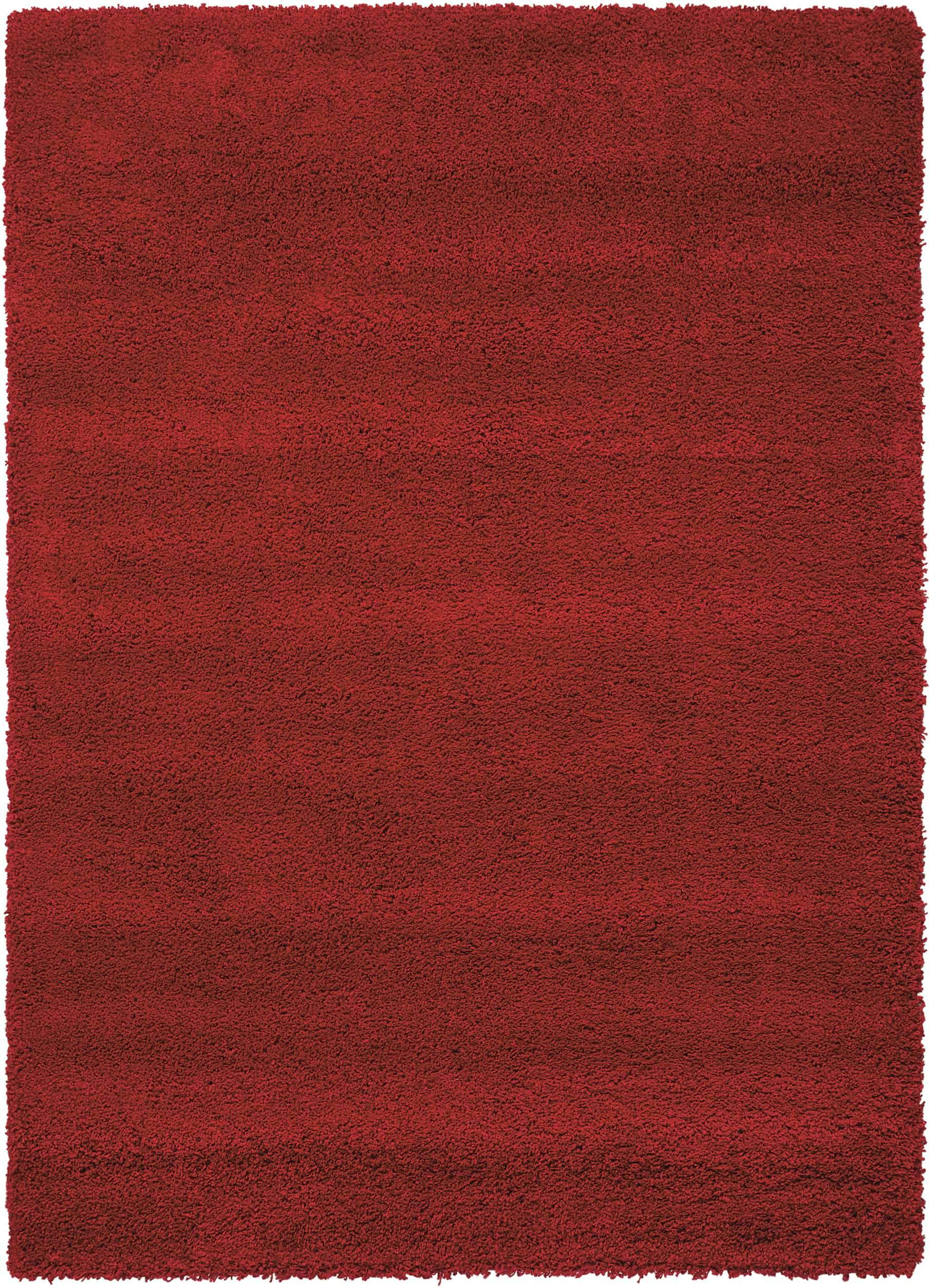 "Nourison Amore Red Shag Area Rug 3'11"" x 5'11"""