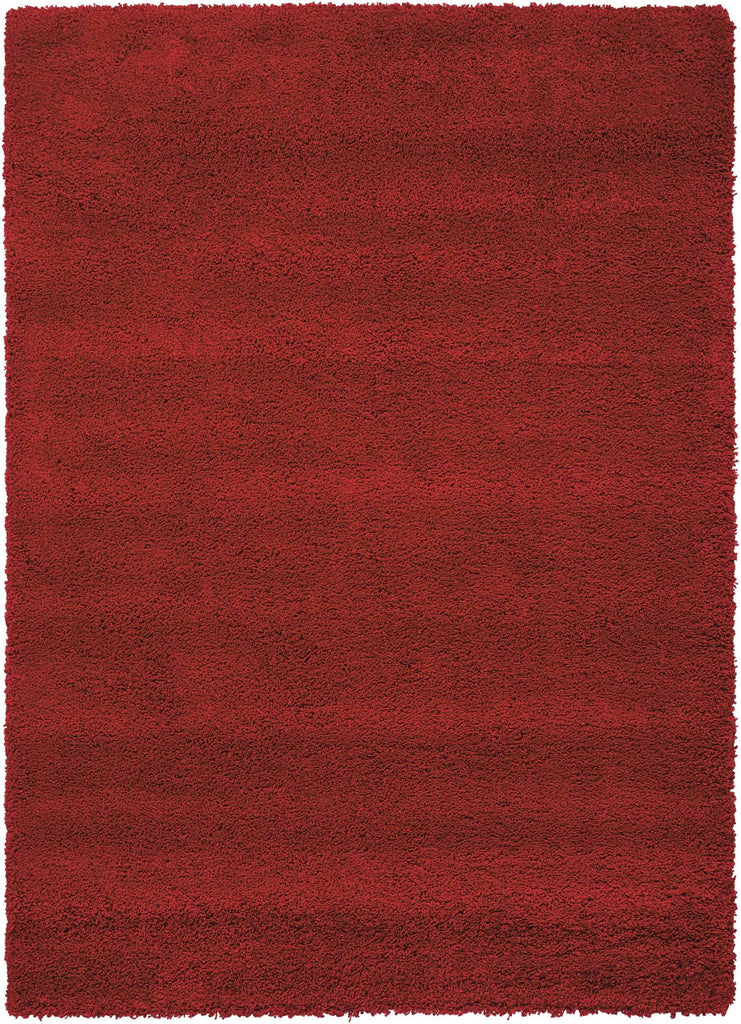 "Amore Red Shag Area Rug 3'11"" x 5'11"" Rugs Nourison 3'11"" x 5'11"" Accent"