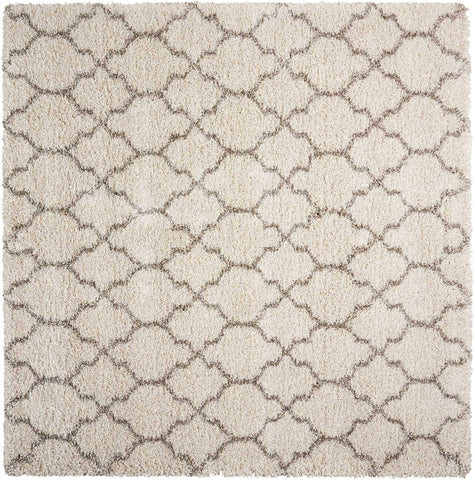 Amore Cream Shag Rug - 12 Size and Shape Options