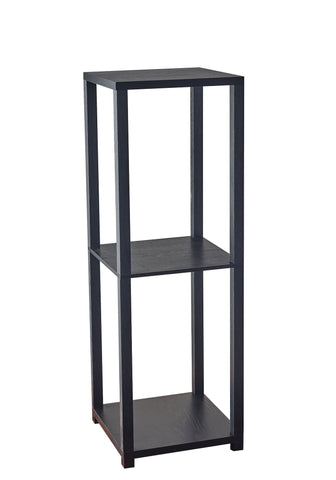 Lawrence Tall Pedestal Table Furniture Adesso Black