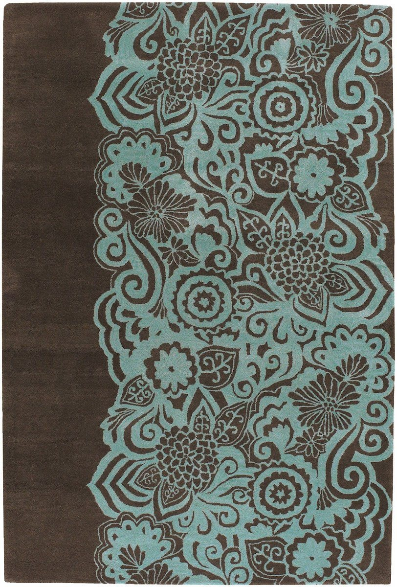Aschera 6400 7'9x10'6 Brown Rug Rugs Chandra Rugs