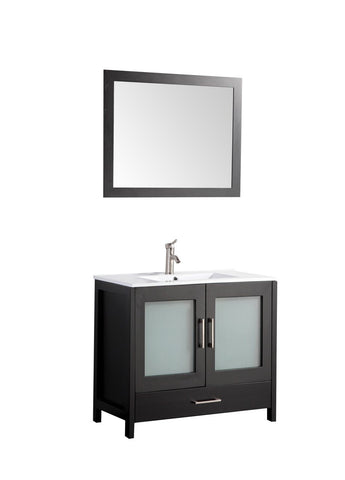 "Argentina 48"" Single Sink Vanity Set Espresso"