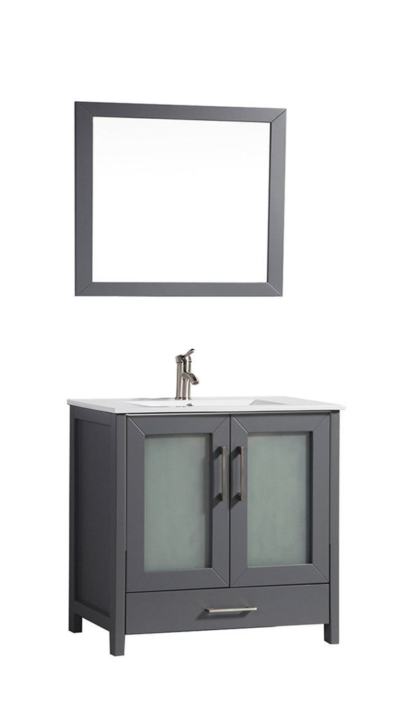 "Argentina 48"" Single Sink Vanity Set Grey"