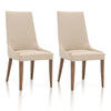 Aurora Dining Chair, Set of 2 - Flaxen and Walnut