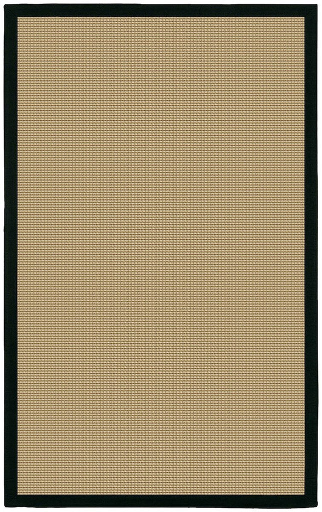 Bay Collection Black 5'x8' Beige Rug Rugs Chandra Rugs