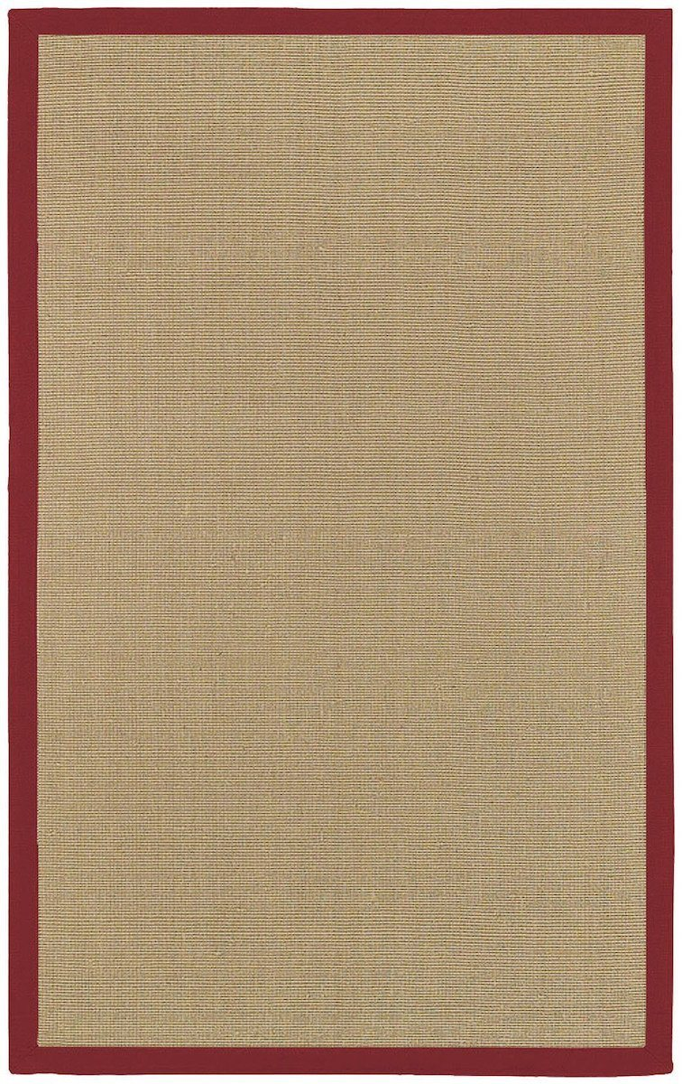 Bay Collection Red 5'x8' Beige Rug Rugs Chandra Rugs