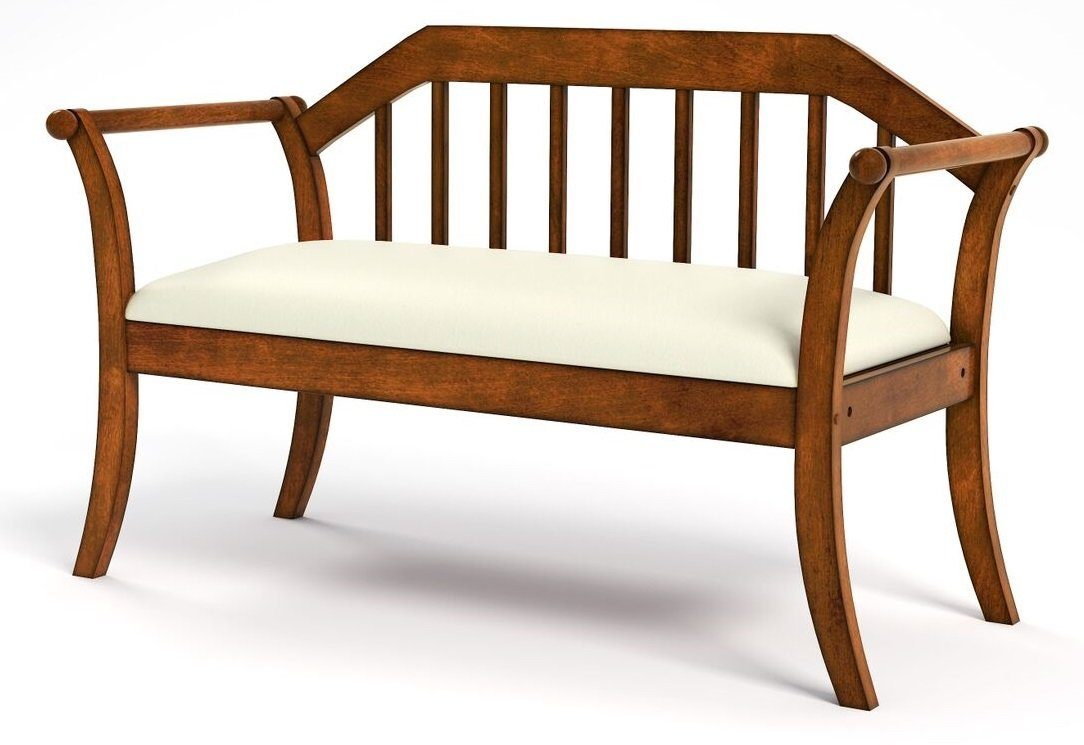 Leon Mission Style Slatted Wood Bench Oak Furniture Enitial Lab