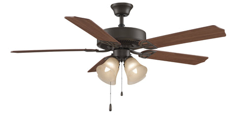 "Aire Decor 52"" Ceiling Fan - Bronze with Amber Glass"
