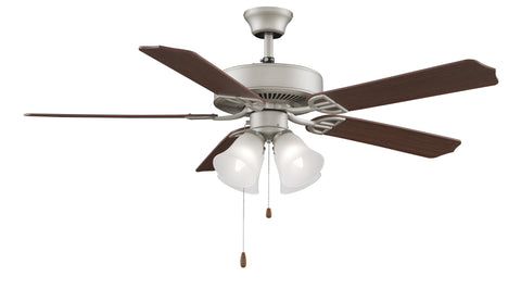 "Aire Decor 52"" Ceiling Fan - Satin Nickel with Light Kit"