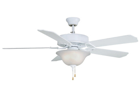 "Aire Decor 52"" 220V Ceiling Fan - Matte White with Bowl Light Kit"