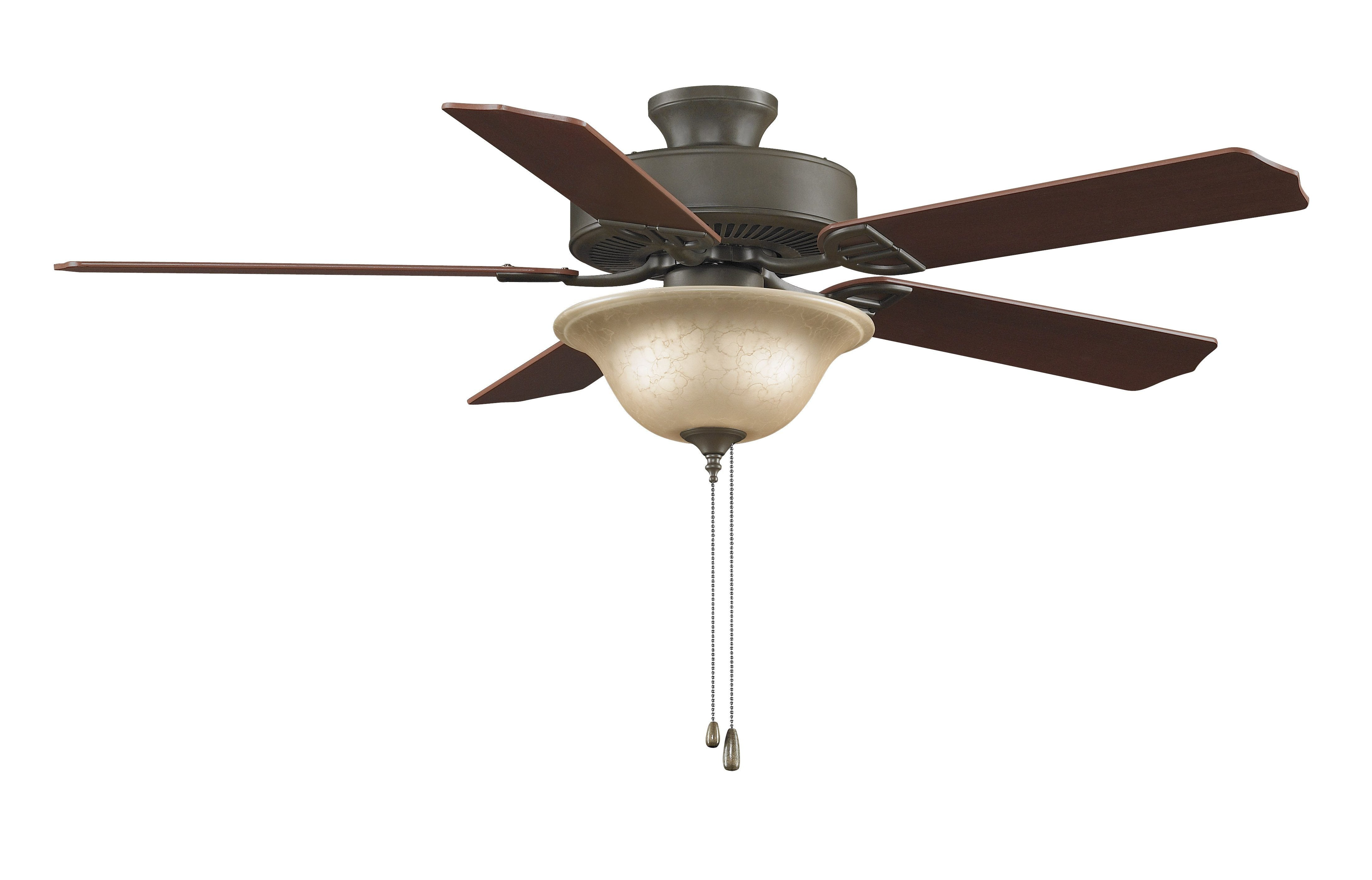"Aire Decor 52"" Ceiling Fan - Bronze with Bowl Light Kit"