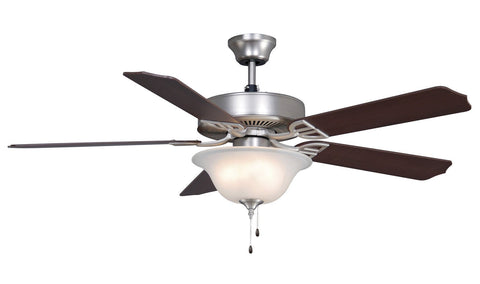 "Aire Decor 52"" Ceiling Fan - Satin Nickel with Bowl Light Kit"