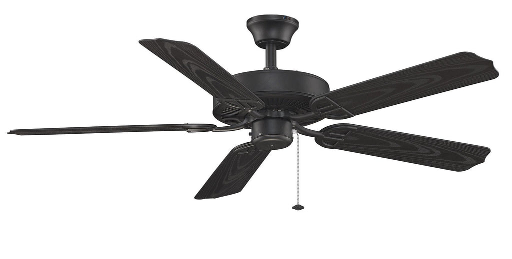 "Aire Decor 52"" Damp Rated Indoor/Outdoor Ceiling Fan - Black Fans Fanimation"