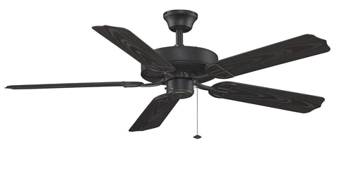 "Aire Decor 52"" Damp Rated Indoor/Outdoor Ceiling Fan - Black"