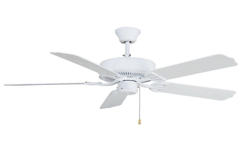 "Aire Decor 52"" Damp Rated Indoor/Outdoor Ceiling Fan - Matte White"