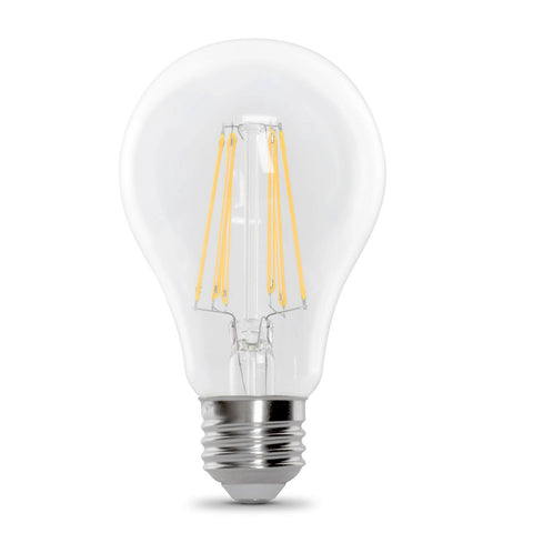 A21 Filament LED 100W Equiv. Dimmable, Clear Bulb - 5000K, 2 Pk Bulbs Feit Electric