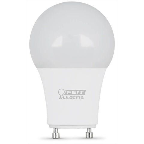 "Feit Electric A19 60 Watt Equiv., Dimmable Performance LED, GU24 Base,  Smaller Size 3.75"" MOL, 800 Lumen, 3000K"
