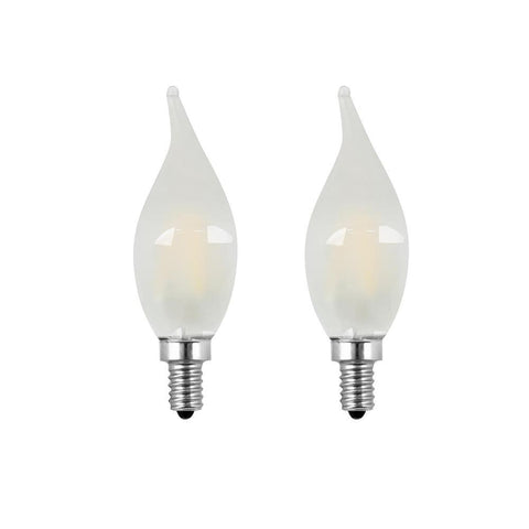 LED B10 40W Equiv. Dimmable Candelabra Bulb - 2700K, 2 Pk Bulbs Feit Electric
