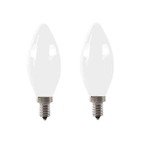 LED B11 40W Equiv. Dimmable Candelabra Bulb - 2700K, 2 Pk Bulbs Feit Electric