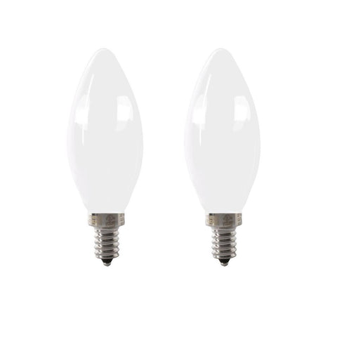 LED B11 40W Equiv. Dimmable Candelabra Bulb - 5000K, 2 PK Bulbs Feit Electric