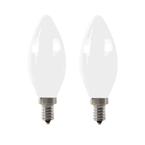 LED B11 60W Equiv. Dimmable Candelabra Bulb - 5000K, 2 PK Bulbs Feit Electric