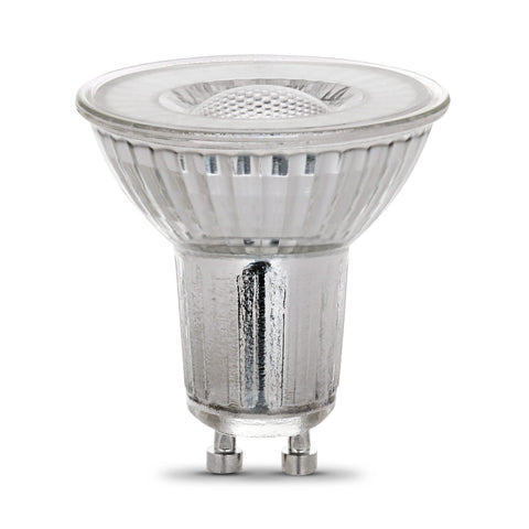 LED MR16 GU10 50W Equiv., 500 Lumens, Dimmable, 25000 Life Hours, 3000K, 3PK Bulbs Feit Electric