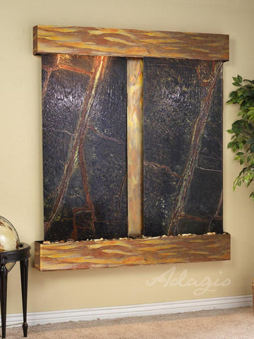 Cottonwood Falls Square - Rustic Copper - Green Marble