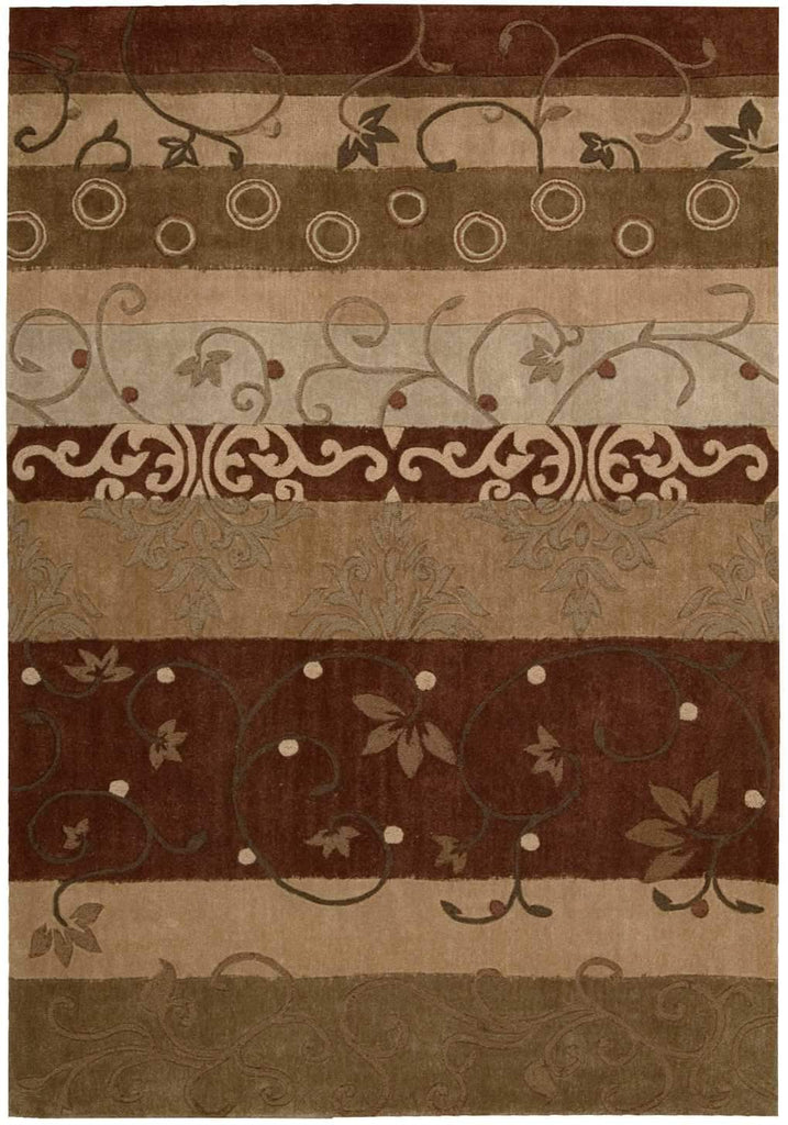 "Contour Multicolor Rug - 4 Size Options Rugs Nourison 3'6"" x 5'6"" Accent"