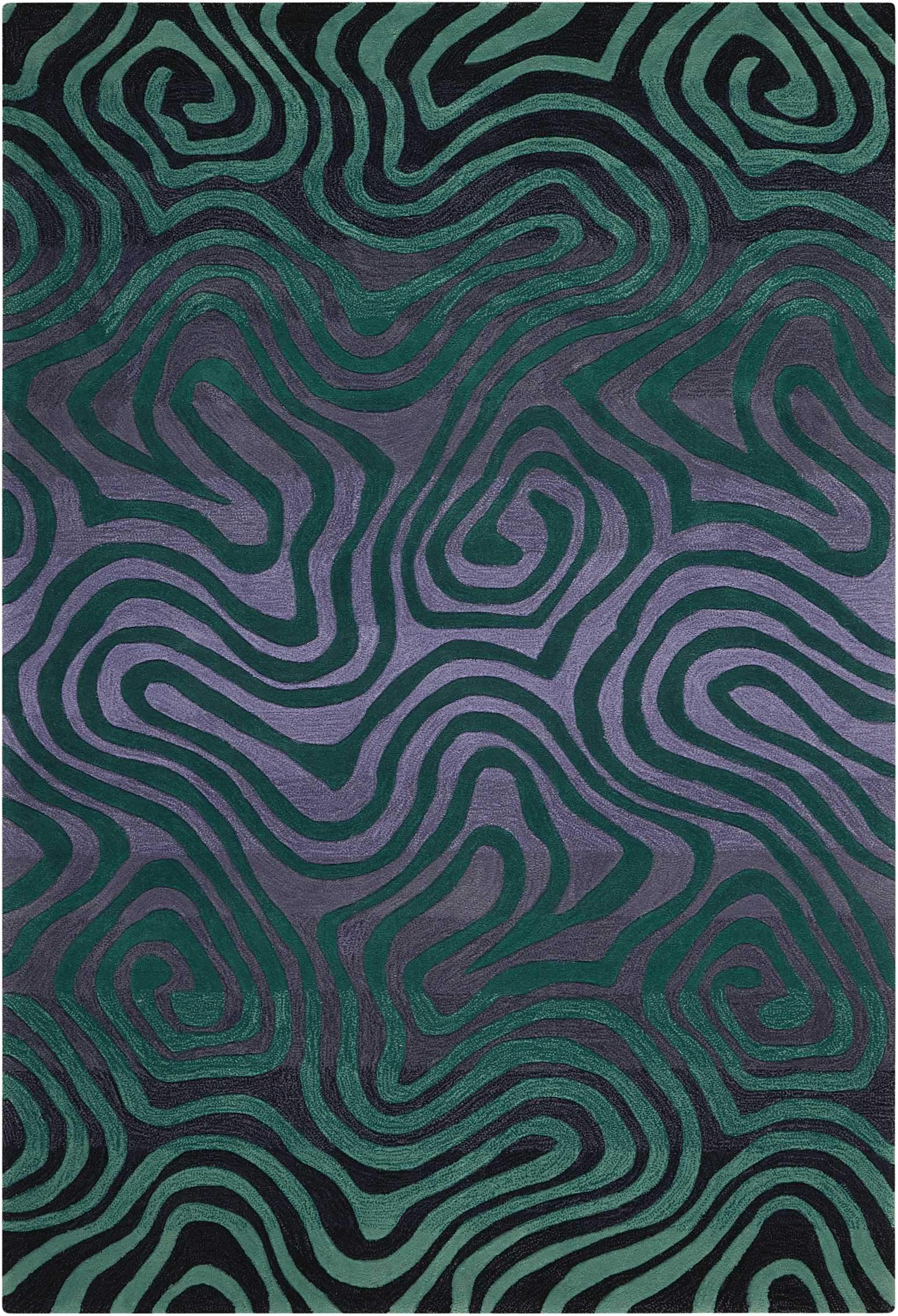 "Contour Smoke Teal Rug - 4 Size Options Rugs Nourison 3'6"" x 5'6"" Accent"