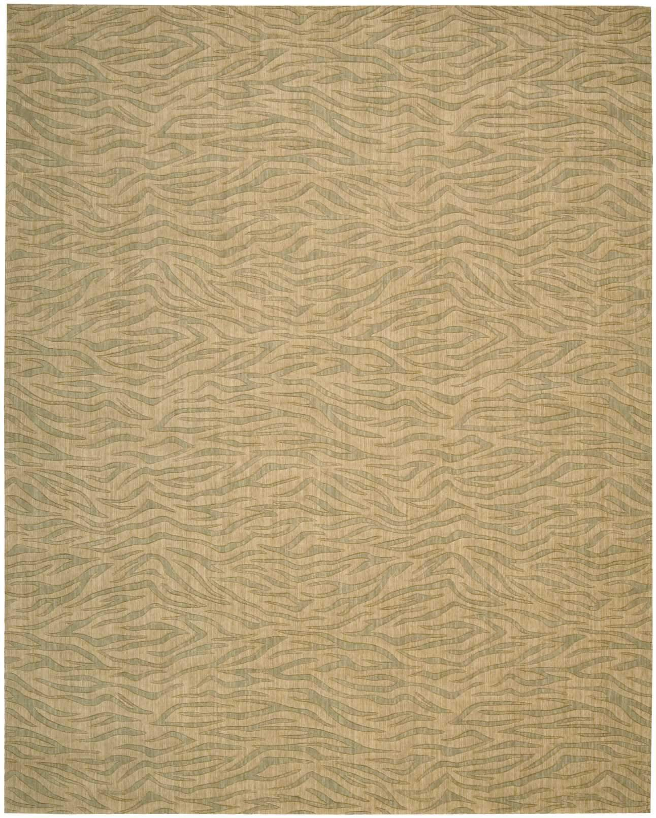 "Cosmopolitan Beige Green Rug - 6 Size Options Rugs Nourison 3'6"" x 5'6"" Accent"