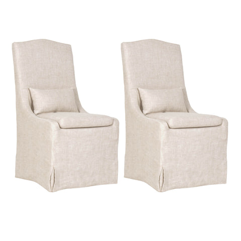 Colette Slipcover Dining Chair, Set of 2 - Bisque
