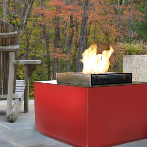 Spark Outdoor Fire Cube Red - Natural Gas