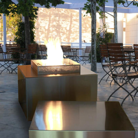 Spark Outdoor Fire Cube Stainless Steel - Natural Gas