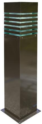 "Steel 42""h Bollard - Bronze- Multiple Bulb Options Outdoor Dabmar"