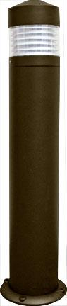 "Cast Aluminum 39""h Bollard - Bronze - Multiple Lamp Options"