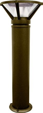 "Cast Aluminum 40""h Bollard - Bronze - Multiple Lamp Options"