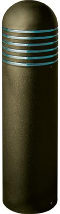 "Wide Steel 46""h Bollard - Bronze - Multiple Bulb Options Outdoor Dabmar"