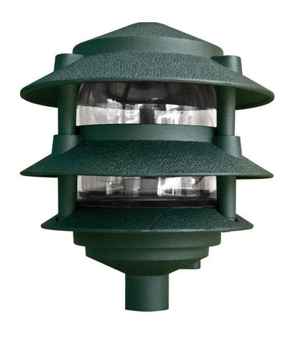 Cast Aluminum Three Tier Pagoda Light 120V Outdoor Dabmar