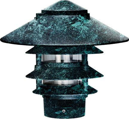 "Dabmar Cast Aluminum Four Tier Pagoda Light with 3.00"" Base"